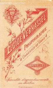 Rückseite einer Visitkarte