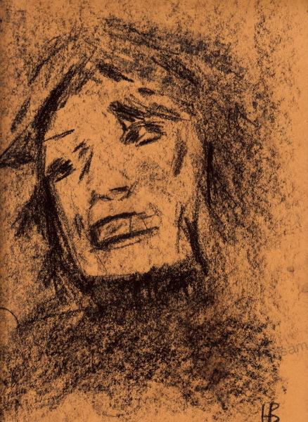 Zeichnung, Kohle auf Papier