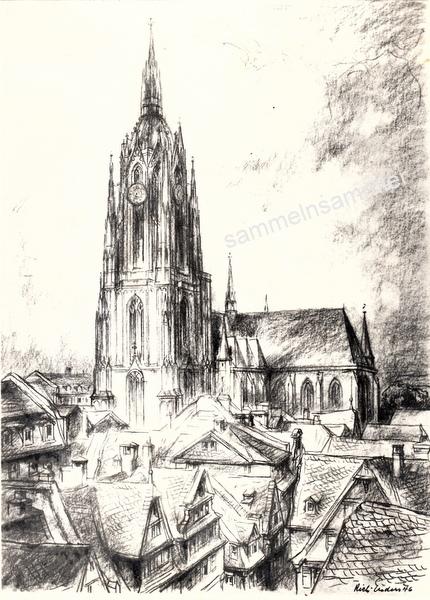 Zeichnung vom alten Frankfurt