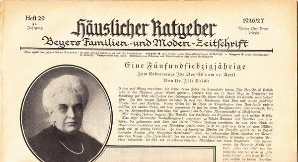 Modezeitschrift Häuslicher Ratgeber von 1926, Heft 29