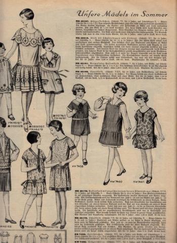 Modezeitschrift Häuslicher Ratgeber von 1926, Kindermode