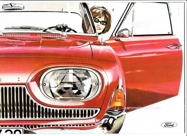 Ein schönes Beispiel für Autoprospekte