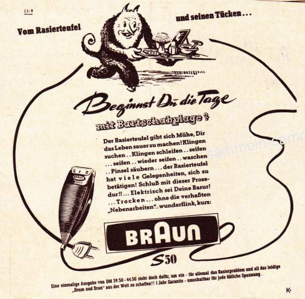 Rasierer Braun S 50, der Beginn des Braun-Design