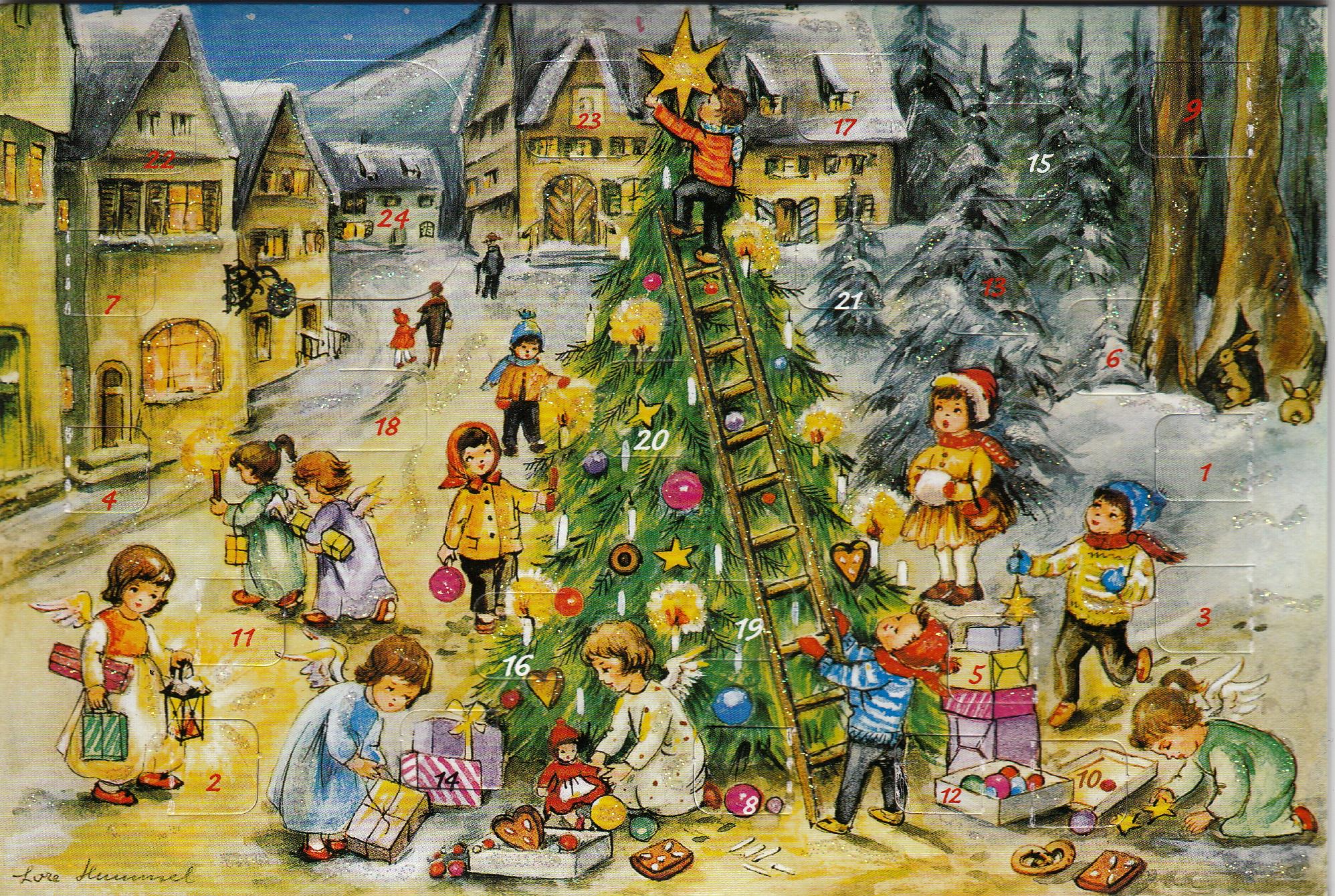 Alte Weihnachtskalender.Adventskalender Weihnachtskalender Sammelgebiet
