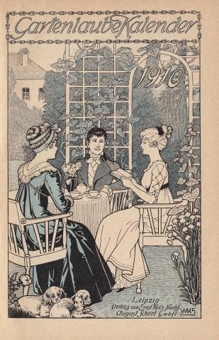 Almanach Kalender 1909 Gartenlaube Deckblatt