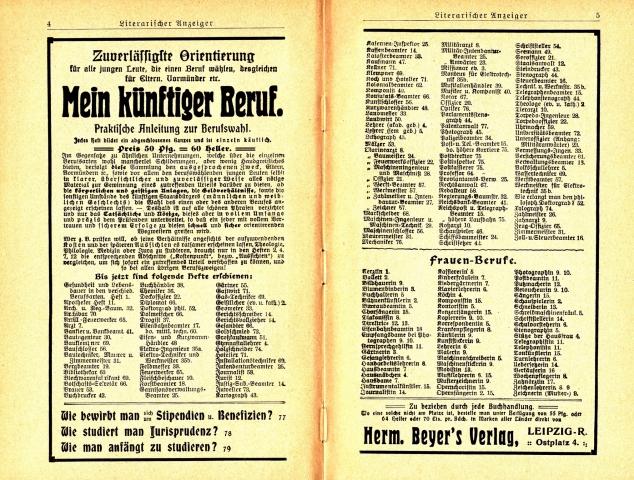 Almanach Werbung 1909