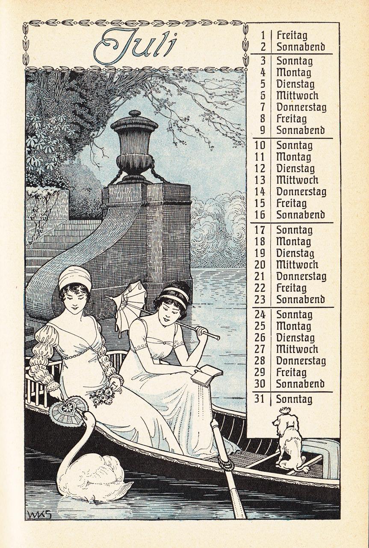 Almanach Kalender 1909 Gartenlaube