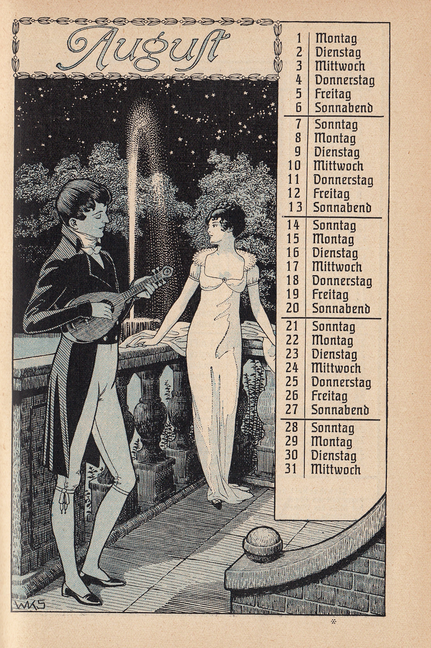 Almanach Gartenlaube Kalender 1909