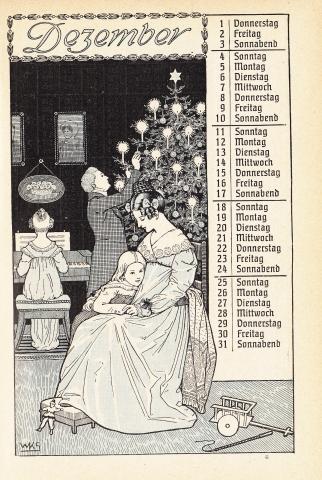 Almanach Kalender 1909 Gartenlaube Dezember