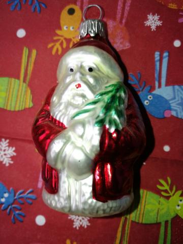 Weihnachtsmann Glas 90er Jahre