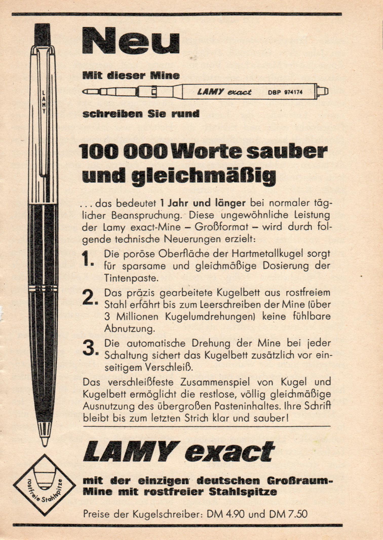 Lamy exact Mine