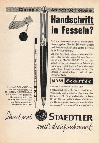 Staedler Mine für Mars Elastic von 1962