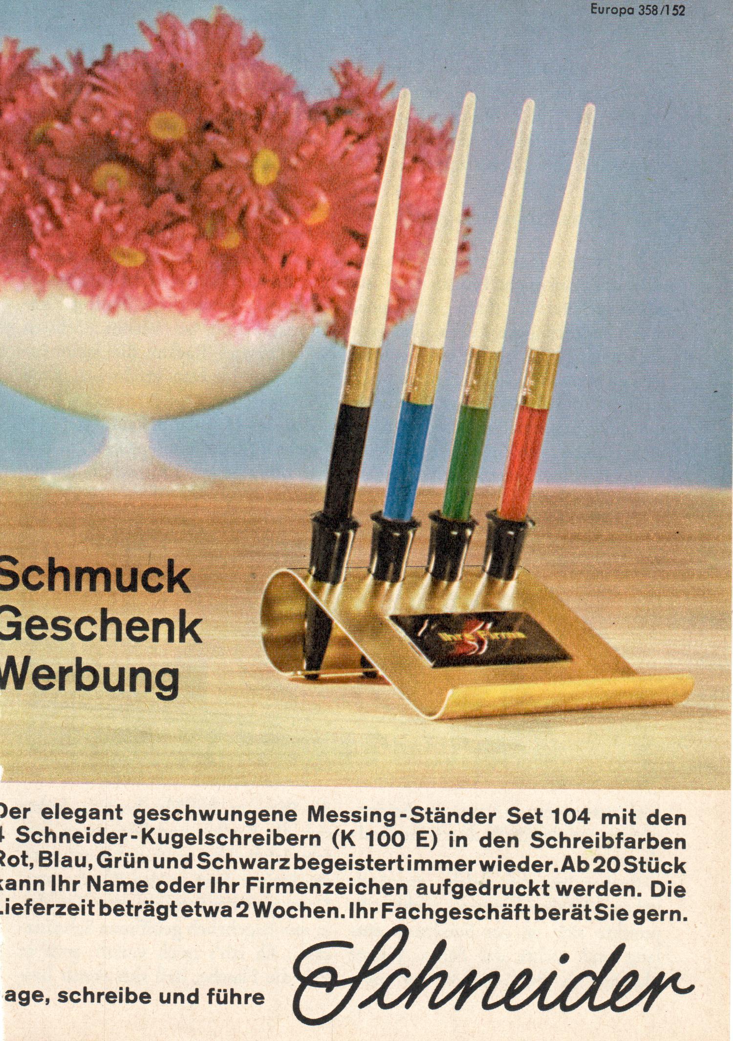 Schneider Ständer Set 104 von 1963